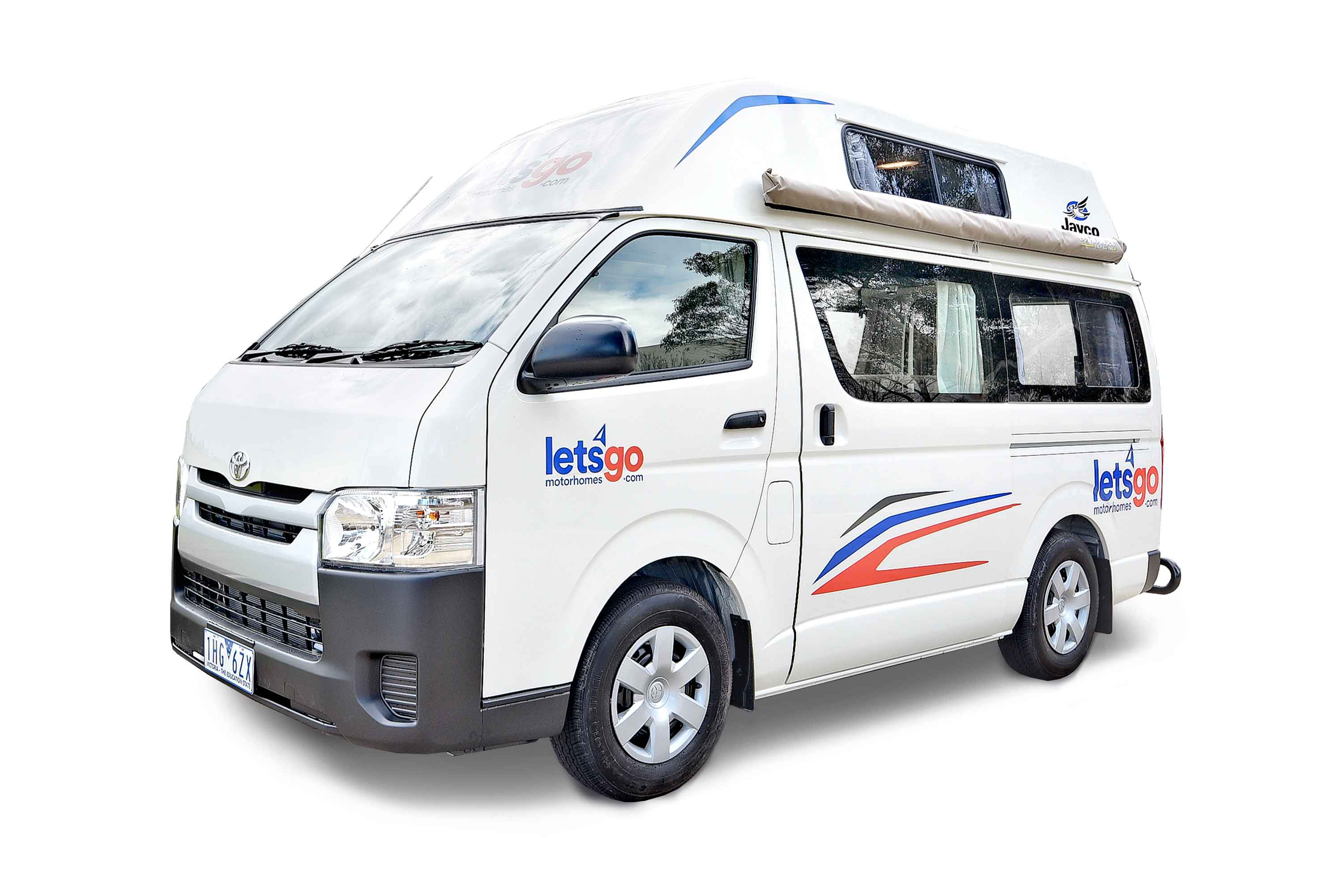 3 person Jayco HiTop Campervan for Hire   Let's Go Motorhomes